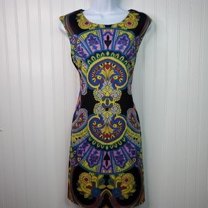 Aryeh Geometric Stained Glass Print Shift Dress